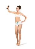 Fitness. Girl doing aerobic exercise Royalty Free Stock Photo