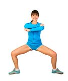 Fitness. Attractive young woman is doing some exercises Royalty Free Stock Photography
