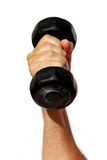 Fitness. Hand raised with 3 pound weight Stock Photography
