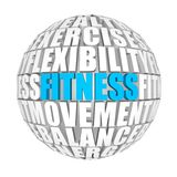 Fitness. Circle words on the ball on the topics Stock Images