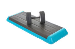 Fitness. Step board for workout, isolated on white background Royalty Free Stock Photo