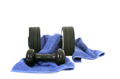 Fitness. Weights for workout, isolated on white background Stock Photo