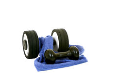 Fitness. Weights for workout, isolated on white background Royalty Free Stock Photography