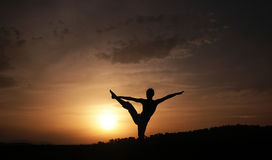 Fitness. Photo of a healty woman...fitness training at sunset Royalty Free Stock Images