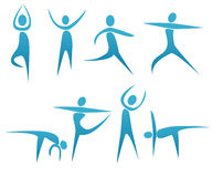 Fitness. Abstract silhouettes with fitness concept Royalty Free Stock Images