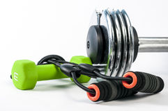 Fitness accessories Royalty Free Stock Photo