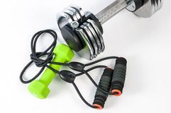 Fitness accessories Royalty Free Stock Images