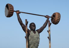 Fitness in Africa on the beach Stock Photo