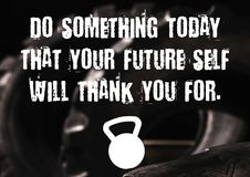 Free Fitness And Gym Motivation Quote Royalty Free Stock Image - 121795836