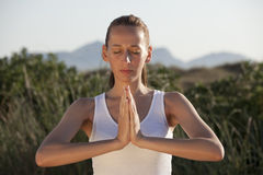 Fitness And Yoga Exercises Royalty Free Stock Images