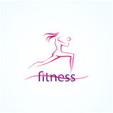 Fitness ans sport girls icons Royalty Free Stock Image