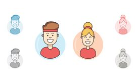 Fitness app avatar. Flat modern icon stock illustration