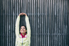 Fitness arm stretching exercise Royalty Free Stock Photos