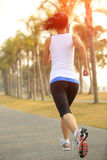 Fitness asian woman running Royalty Free Stock Images