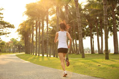 Fitness asian woman running Stock Photography