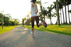 Fitness asian woman running Royalty Free Stock Image