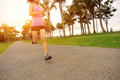 Fitness asian woman running Stock Images