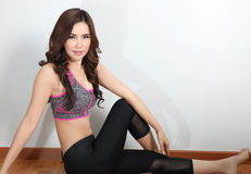 Fitness asian woman Stock Photography