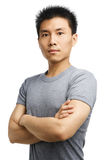 Fitness Asian young man Royalty Free Stock Photography