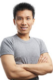 Fitness Asian young man Stock Images
