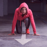 Fitness Athlete Runner Woman Royalty Free Stock Photo