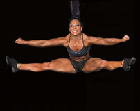 Fitness Athlete Takes a Flying Leap Stock Photography