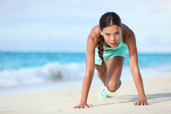 Fitness athlete working out body core with bodyweight exercises Royalty Free Stock Photo