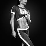 Fitness athletic young woman royalty free stock images