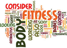 Fitness Babes Word Cloud Concept Royalty Free Stock Images