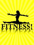 Fitness background. Fitness isolated on yellow background Royalty Free Stock Image