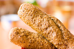 Fitness baguette Stock Images