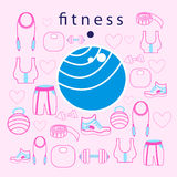 Fitness ball on background Stock Photos