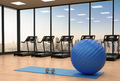 Fitness ball in gym Stock Images