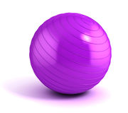 Fitness ball isolated on white Stock Images