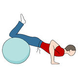 Fitness Ball Pushups Royalty Free Stock Photography