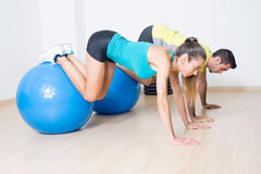Fitness ball training Royalty Free Stock Photography