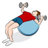 Fitness Ball Weight Exercise Royalty Free Stock Image