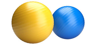 Fitness balls Royalty Free Stock Images