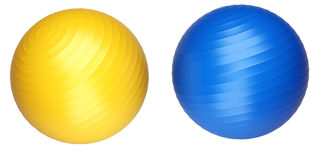 Fitness balls Stock Images