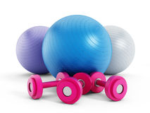 Fitness balls Stock Photo