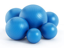 Fitness balls Stock Photography