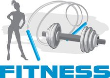 Fitness. Banner for design stock images