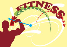 Fitness banner Royalty Free Stock Images