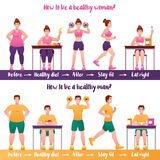 Fitness Banner Set Stock Images