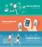 Fitness banner set Royalty Free Stock Photography