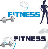 Fitness. Banners for design stock photo