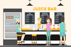 Fitness bar interior. Royalty Free Stock Images