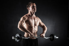 Fitness with barbell Royalty Free Stock Image