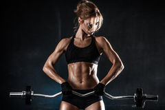 Fitness with barbell Stock Photos