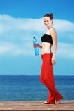 Fitness on the beach Stock Photography